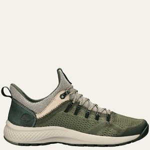 [해외] Timberland Men's FlyRoam™ Trail Mixed-Media Low Boots [팀버랜드 부츠] Green Full-Grain/Mesh (A1NVO301)