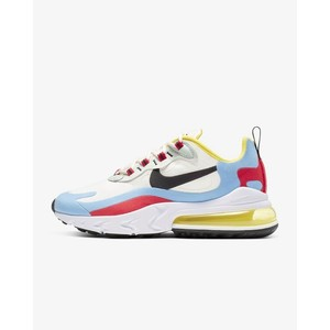 [해외] Nike Air Max 270 React [나이키 운동화] Phantom/Light Blue/University Red/Black (AT6174-002)