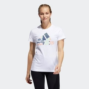 Womens Athletics Global Citizen Badge of Sport Tee [아디다스 티셔츠] White (ED8142)