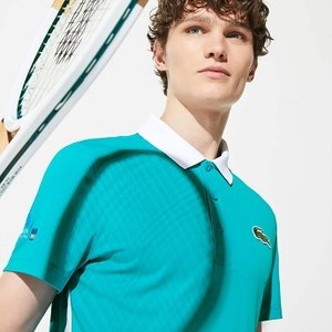 Mens SPORT Miami Open Edition Pique Polo [라코스테 반팔,폴로티] Turquoise/White-GPY (Selected colour) (DH7481-51)