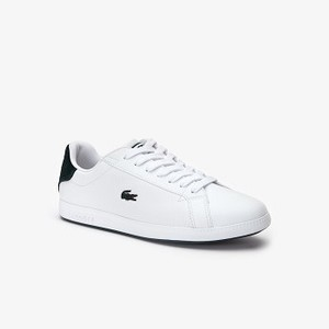 Womens Graduate Leather Sneakers [라코스테 운동화] WHITE/DARK GREEN-1R5 (Selected colour) (38SFA0018)