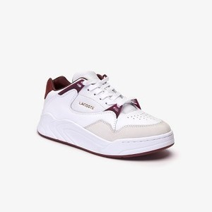Womens Court Slam Two-Tone Leather Sneakers [라코스테 운동화] (38SFA0038)