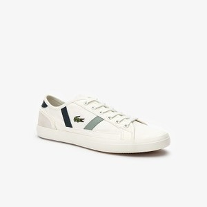 Womens Sideline Canvas and Leather Sneakers [라코스테 운동화] (38CFA0037)