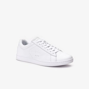 Womens Carnaby Evo Iridescent Leather Sneakers [라코스테 운동화] WHITE/WHITE-21G (Selected colour) (38SFA0011)