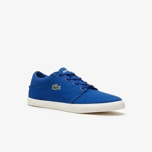 Mens Bayliss Canvas Sneakers [라코스테 운동화] DARK BLUE/OFF WHITE-1W6 (Selected colour) (37CMA0006)