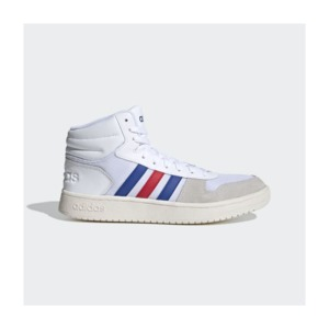 [해외]Hoops 2.0 Mid Shoes [아디다스운동화] Cloud White / Collegiate Royal / Scarlet (FW8252)